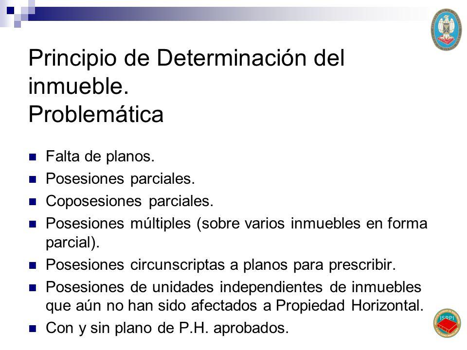 Principio de Determinación del inmueble. Problemática