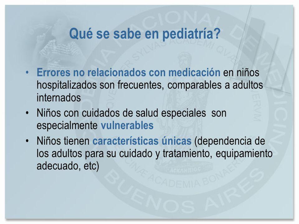 Qué se sabe en pediatría