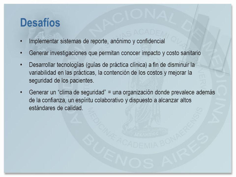 Desafíos Implementar sistemas de reporte, anónimo y confidencial