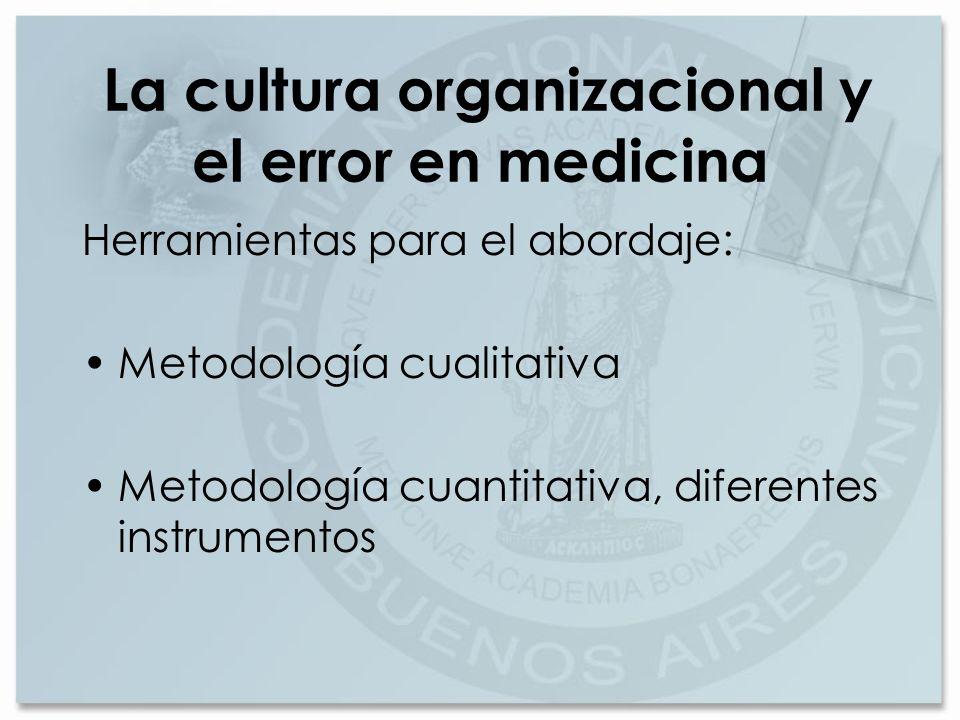 La cultura organizacional y el error en medicina