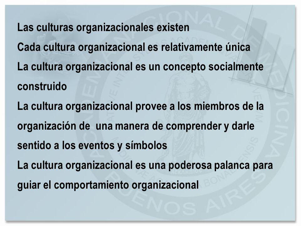 Las culturas organizacionales existen
