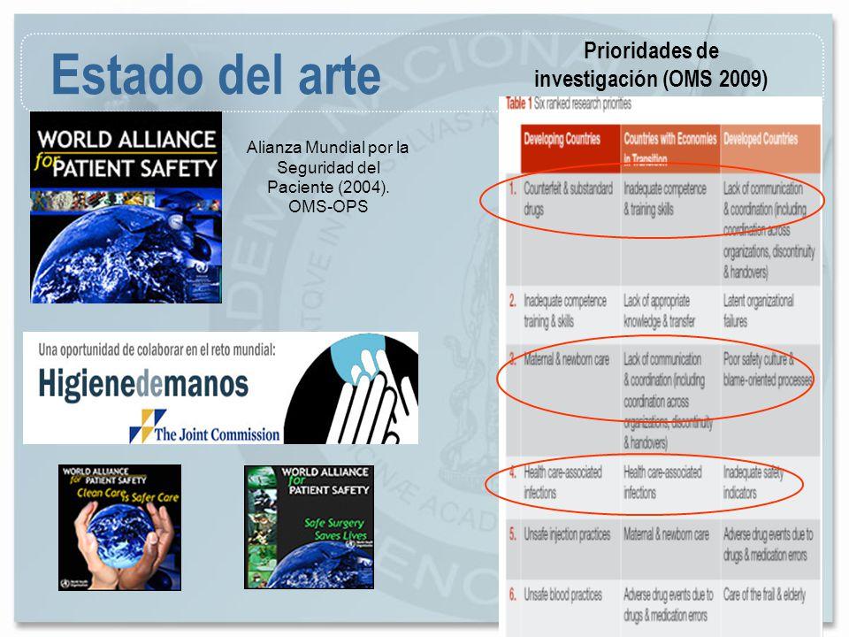 Prioridades de investigación (OMS 2009)
