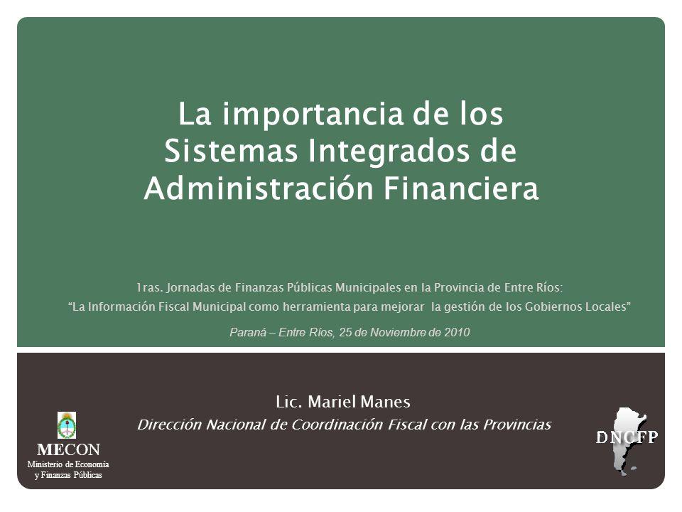 La importancia de los Sistemas Integrados de Administración Financiera