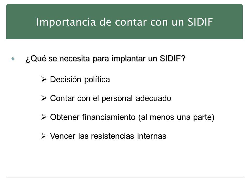 Importancia de contar con un SIDIF