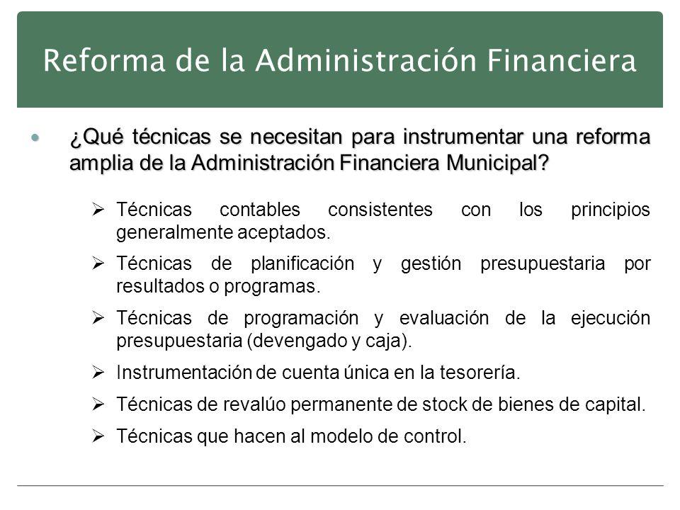 Reforma de la Administración Financiera