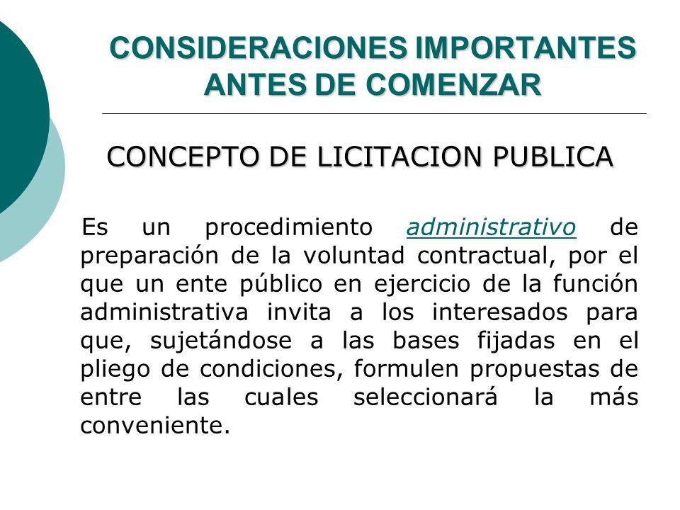 CONSIDERACIONES IMPORTANTES ANTES DE COMENZAR