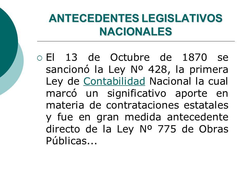 ANTECEDENTES LEGISLATIVOS NACIONALES