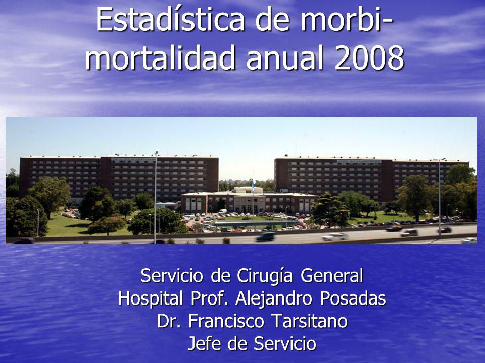 Estadística de morbi-mortalidad anual 2008