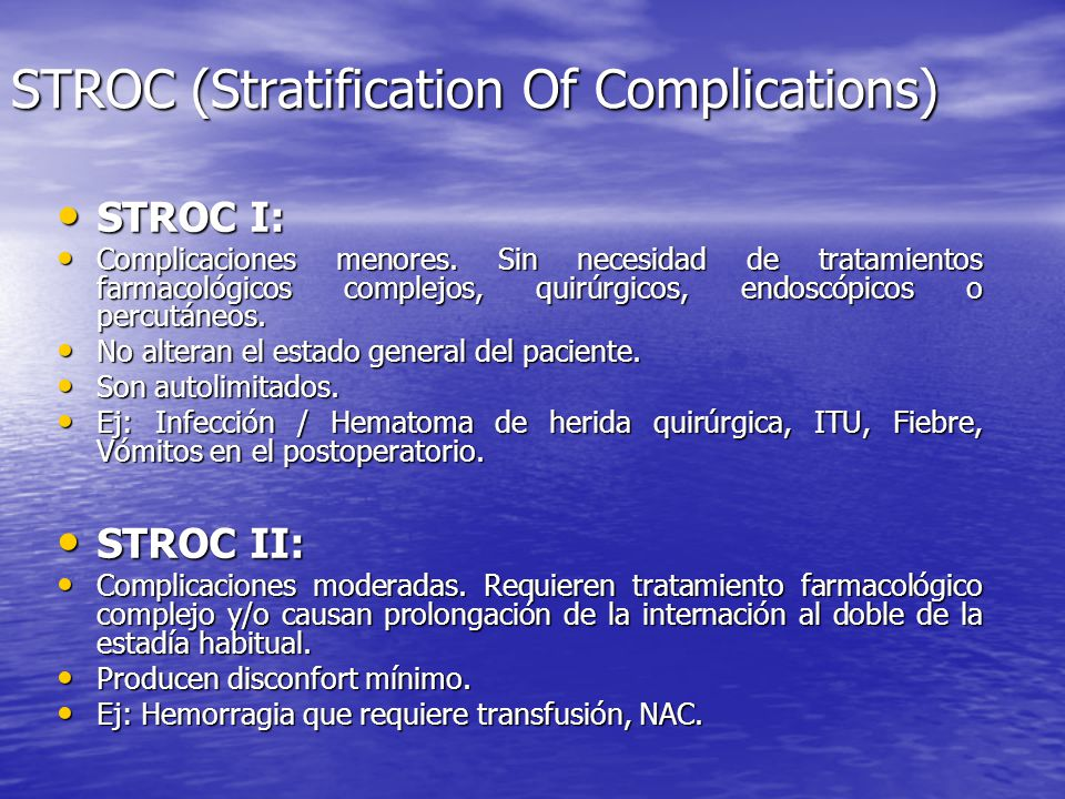 STROC (Stratification Of Complications)