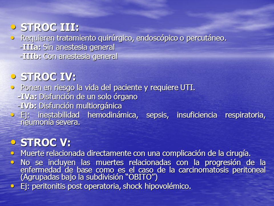STROC III: STROC IV: STROC V: