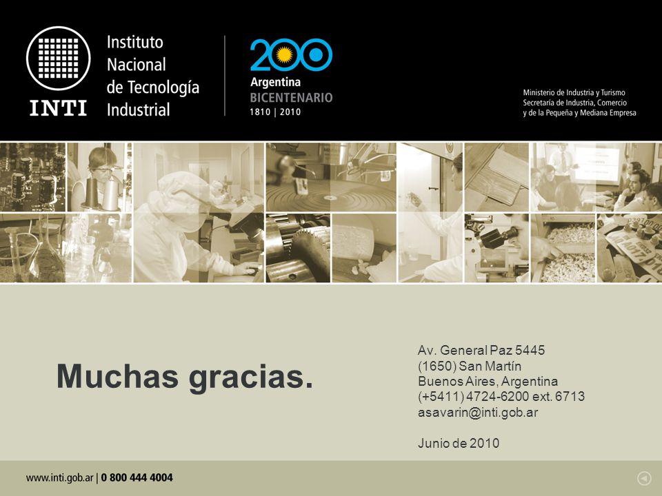Muchas gracias. Av. General Paz 5445 (1650) San Martín