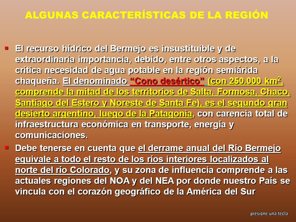 ALGUNAS CARACTERÍSTICAS DE LA REGIÓN