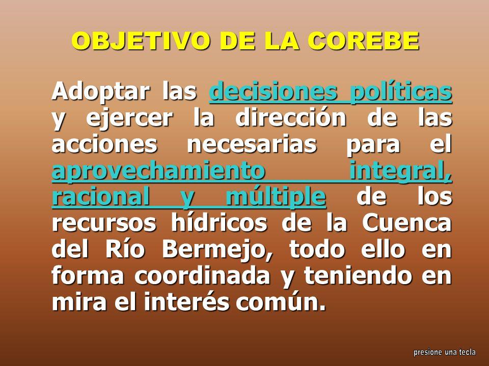 OBJETIVO DE LA COREBE