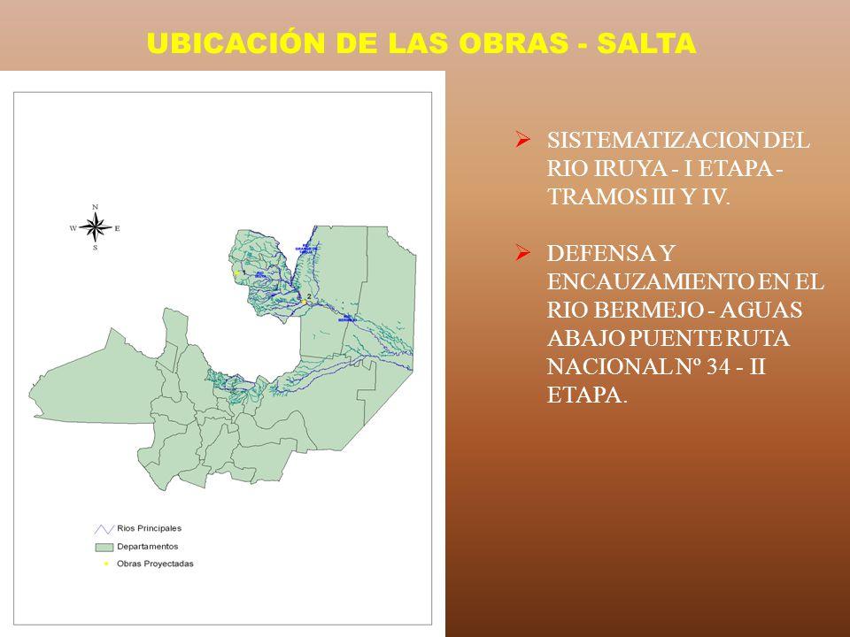 UBICACIÓN DE LAS OBRAS - SALTA