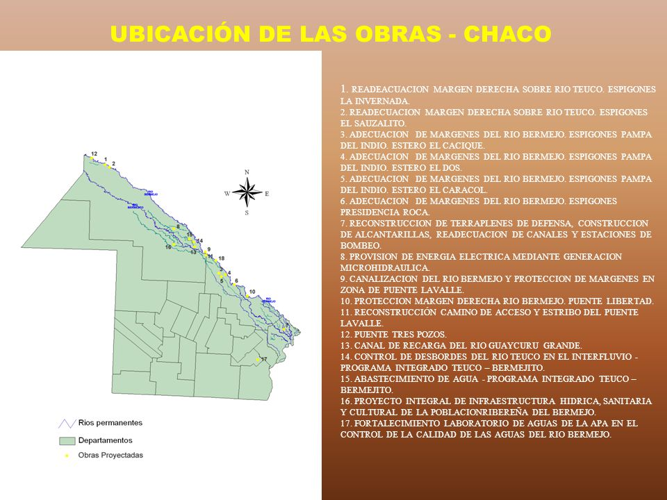 UBICACIÓN DE LAS OBRAS - CHACO