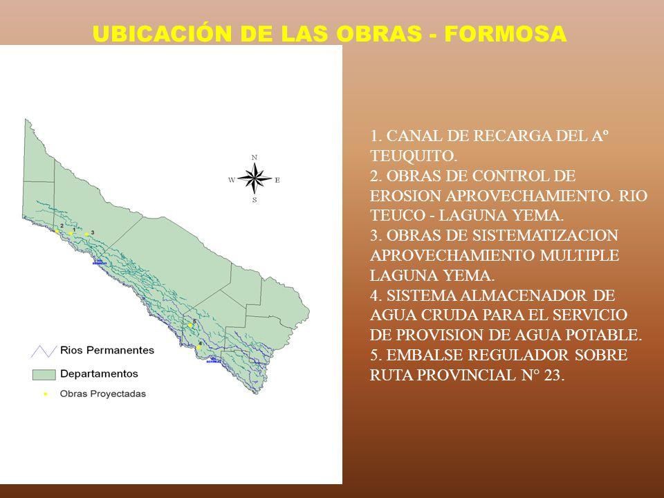 UBICACIÓN DE LAS OBRAS - FORMOSA