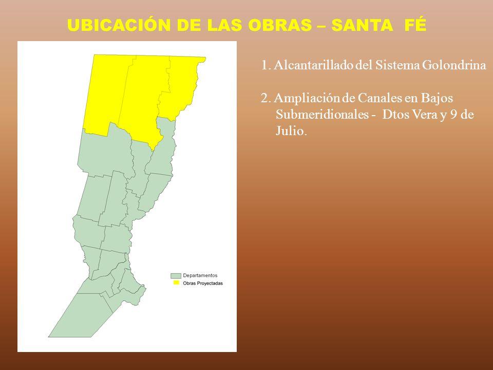 UBICACIÓN DE LAS OBRAS – SANTA FÉ