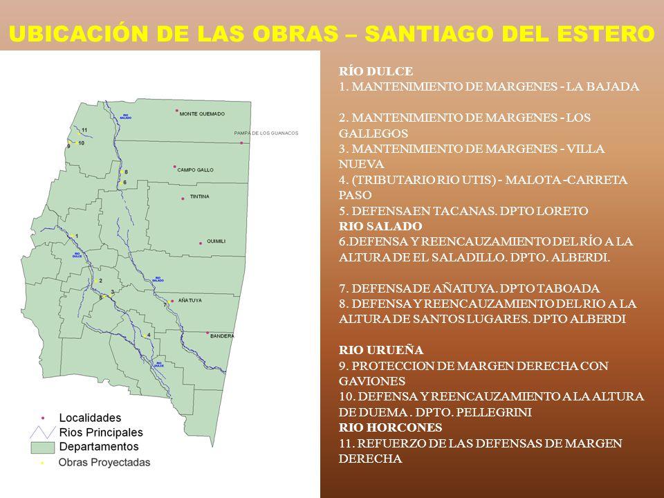 UBICACIÓN DE LAS OBRAS – SANTIAGO DEL ESTERO