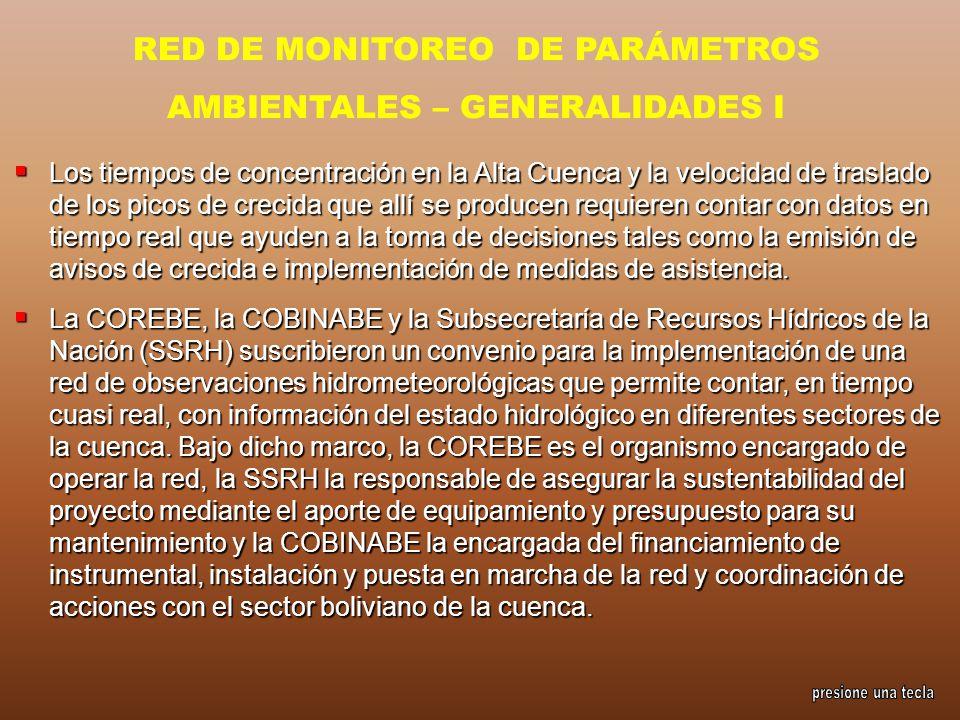 RED DE MONITOREO DE PARÁMETROS AMBIENTALES – GENERALIDADES I