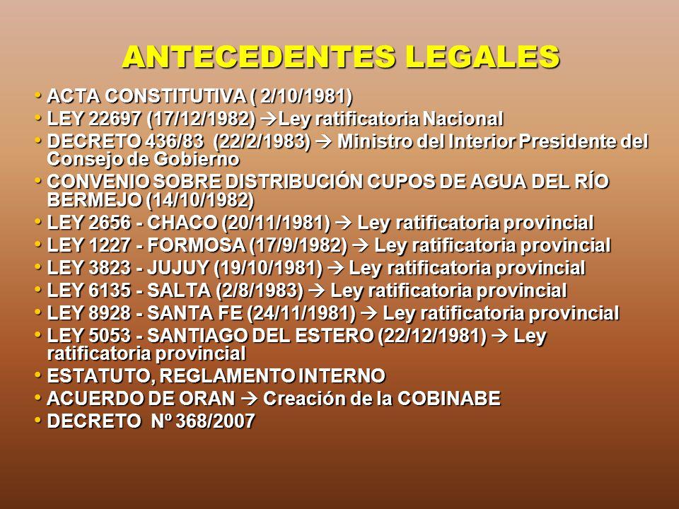ANTECEDENTES LEGALES ACTA CONSTITUTIVA ( 2/10/1981)