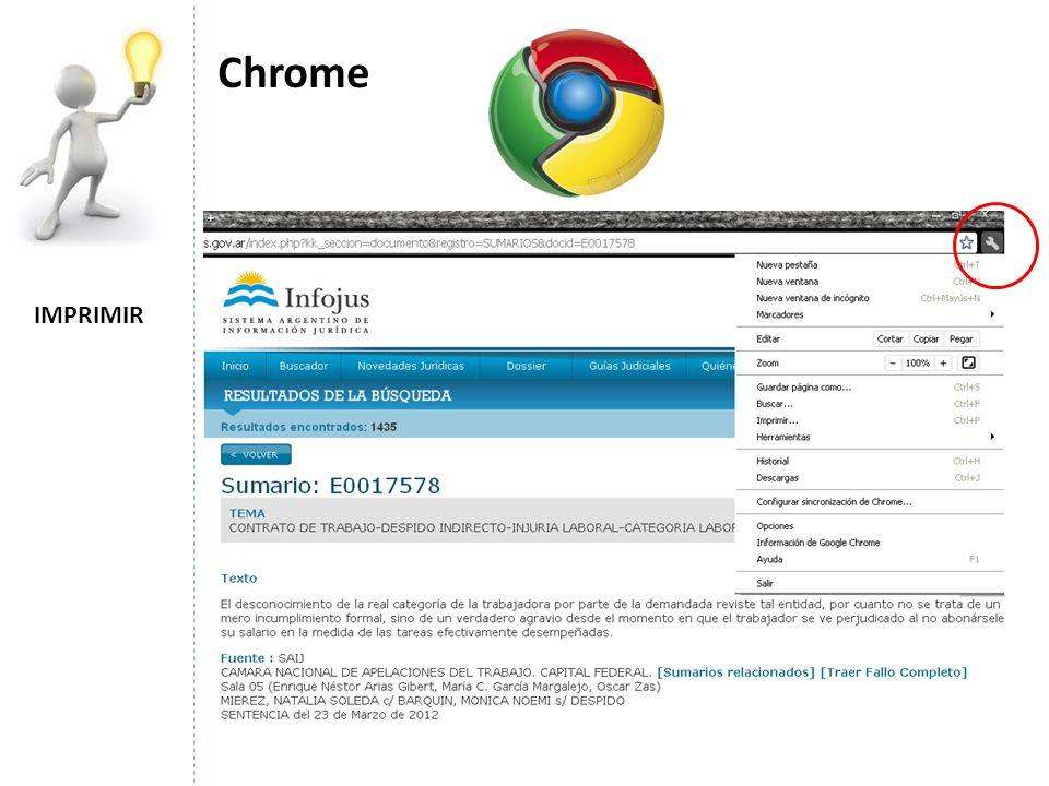 Chrome IMPRIMIR