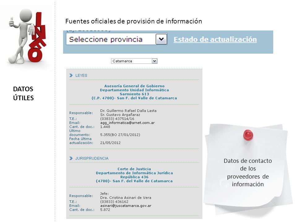 proveedores de información