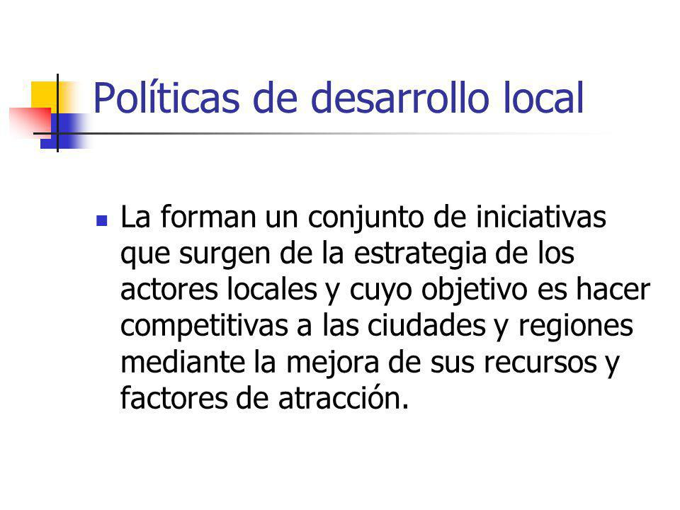 Políticas de desarrollo local