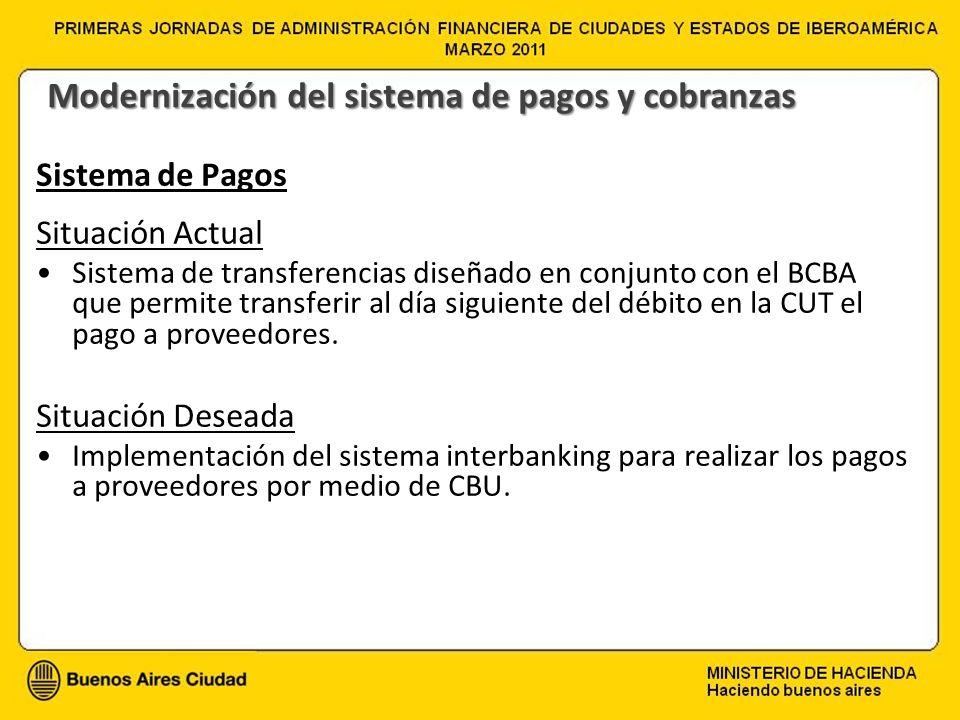 Modernización del sistema de pagos y cobranzas