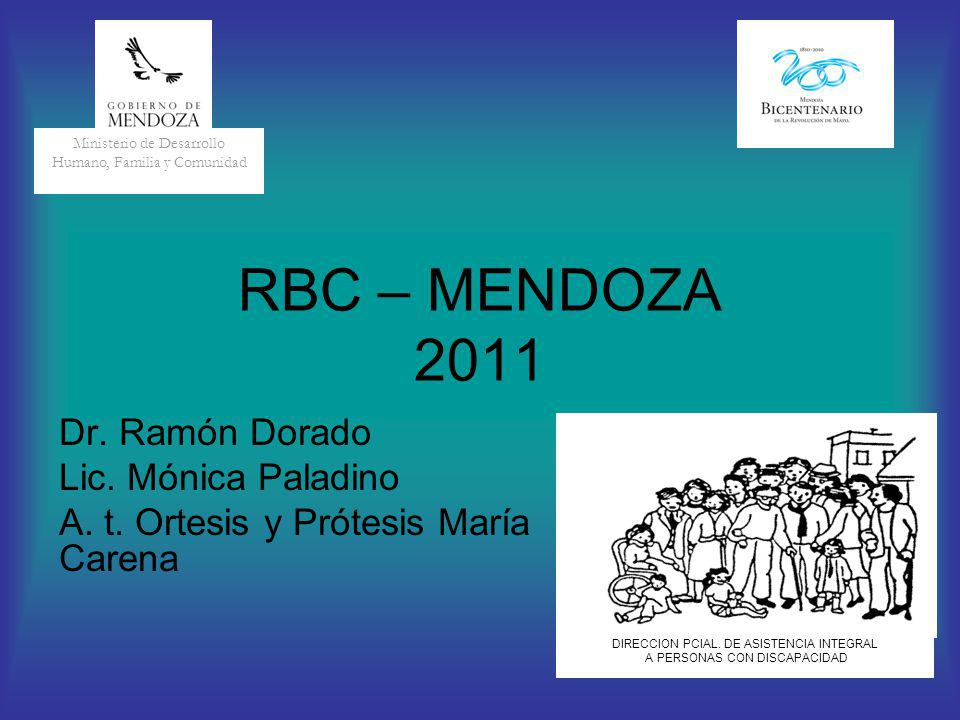 RBC – MENDOZA 2011 Dr. Ramón Dorado Lic. Mónica Paladino