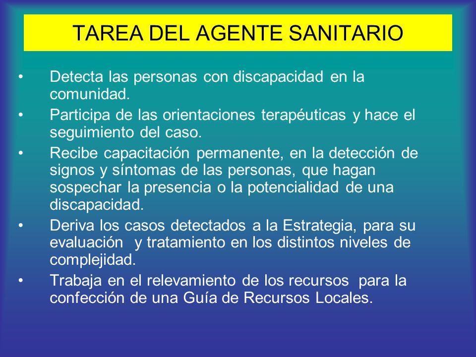 TAREA DEL AGENTE SANITARIO