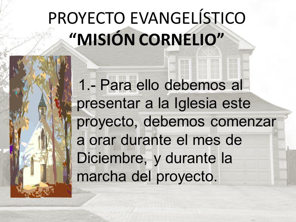 PROYECTO EVANGELÍSTICO MISIÓN CORNELIO