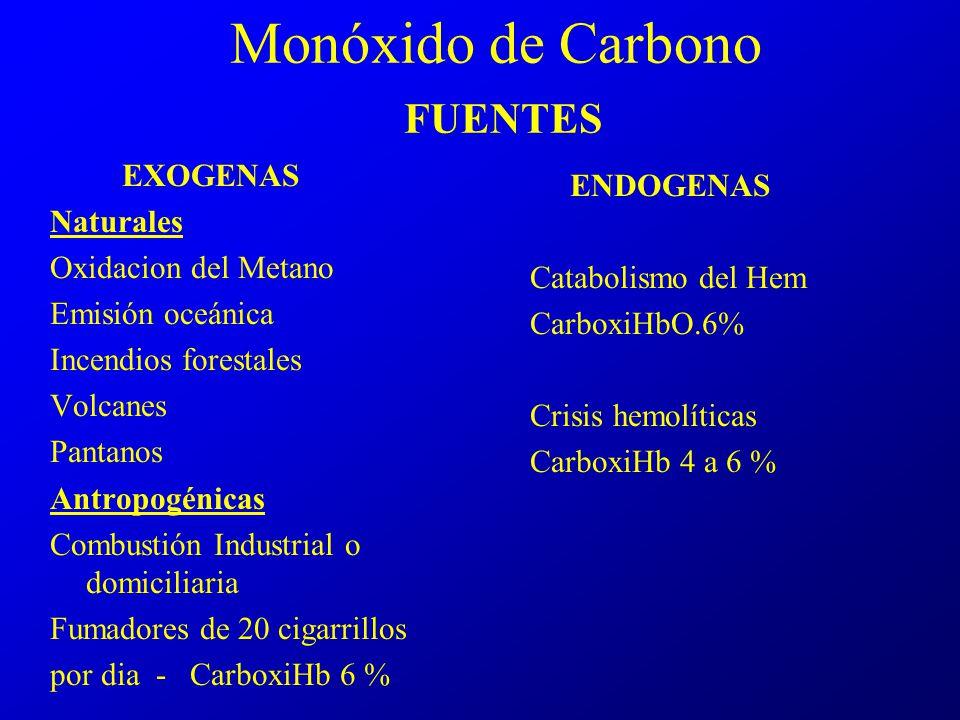 Monóxido de Carbono FUENTES