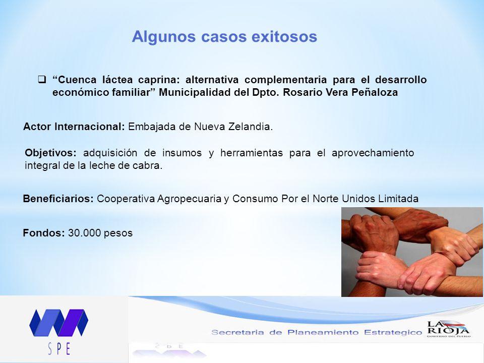 Cuenca láctea caprina: alternativa complementaria para el desarrollo económico familiar Municipalidad del Dpto. Rosario Vera Peñaloza