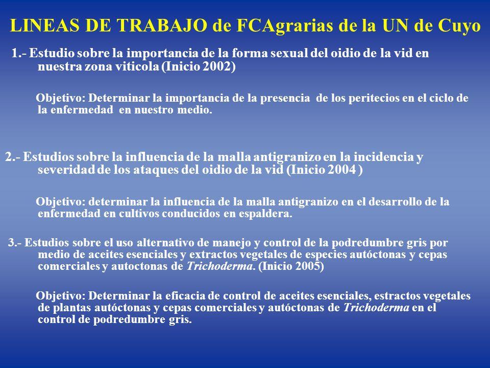 LINEAS DE TRABAJO de FCAgrarias de la UN de Cuyo