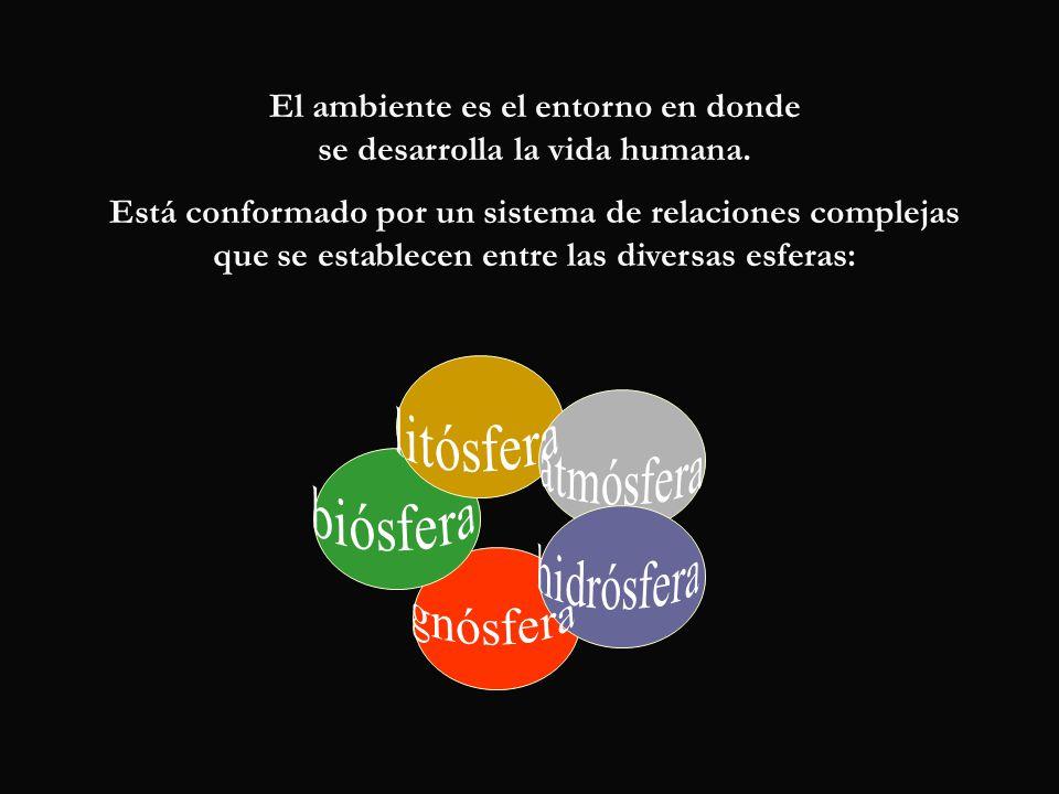 El ambiente es el entorno en donde se desarrolla la vida humana.