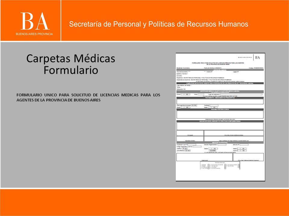 Carpetas Médicas Formulario