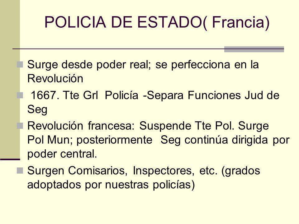 POLICIA DE ESTADO( Francia)