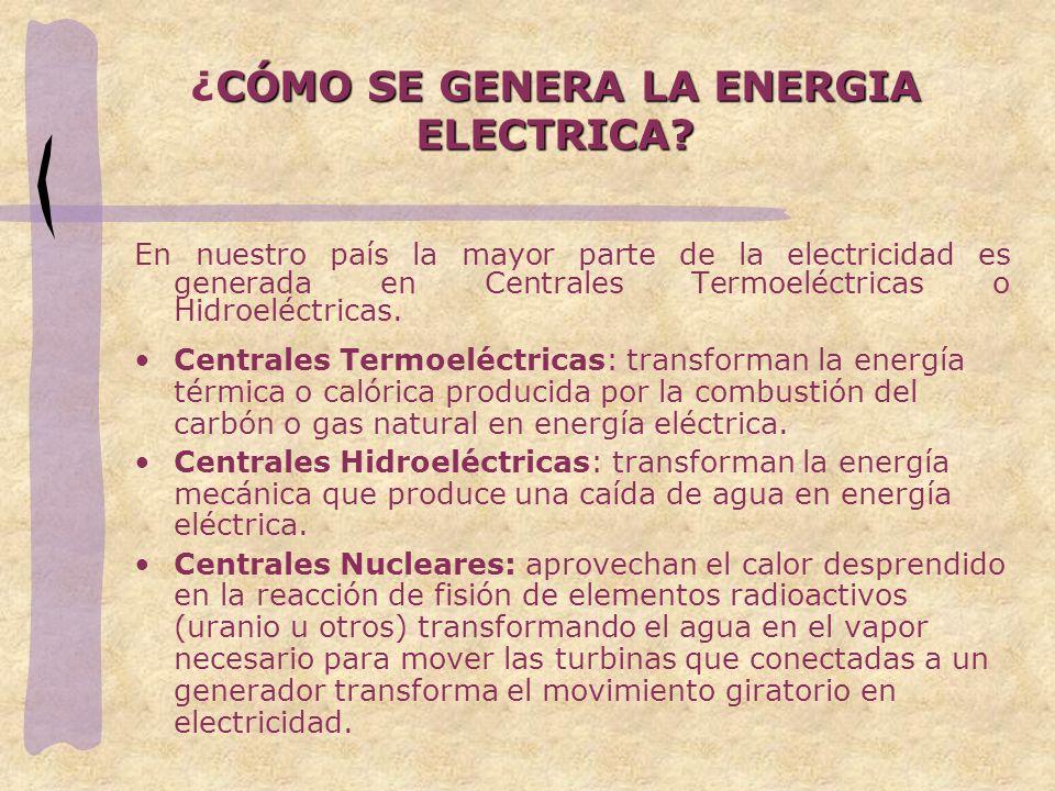 ¿CÓMO SE GENERA LA ENERGIA ELECTRICA