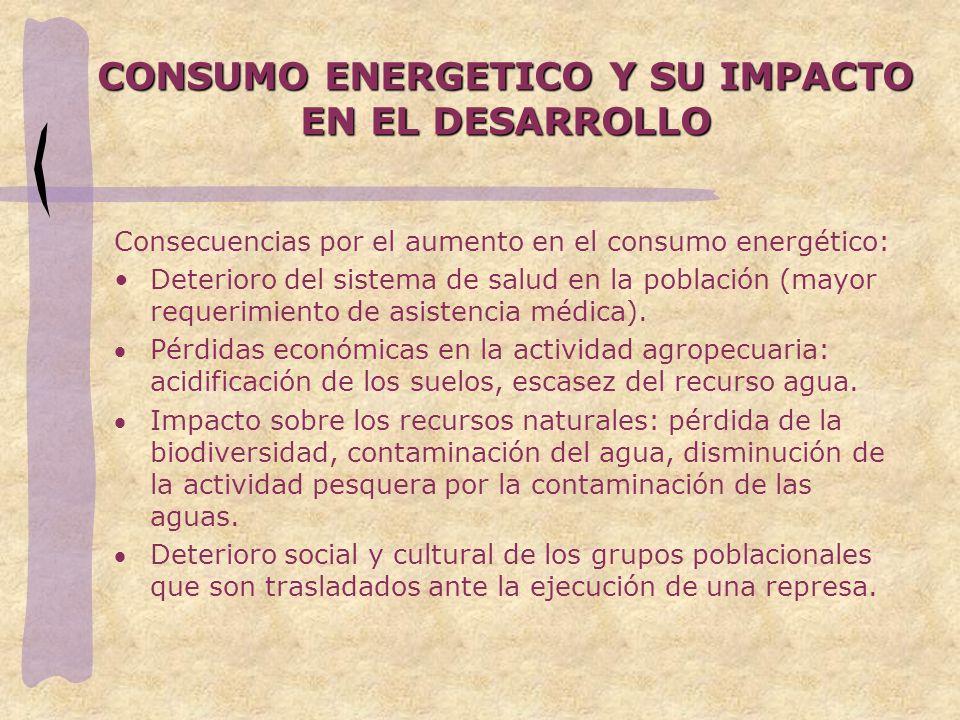 CONSUMO ENERGETICO Y SU IMPACTO EN EL DESARROLLO