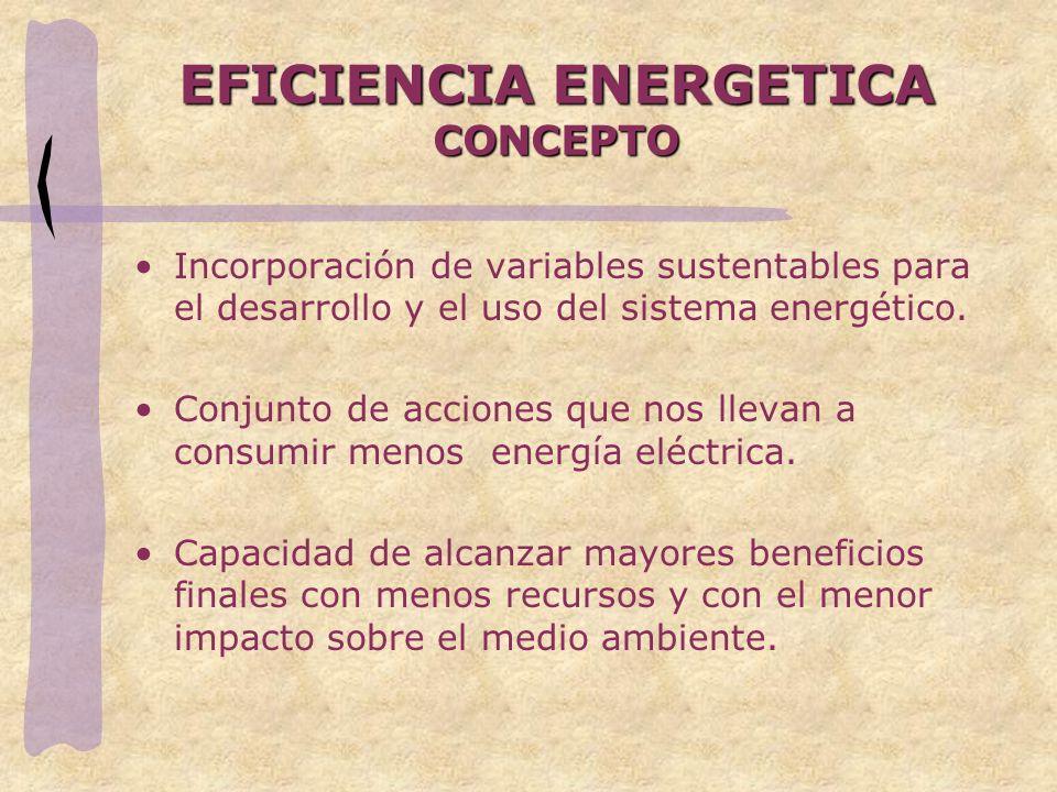 EFICIENCIA ENERGETICA CONCEPTO
