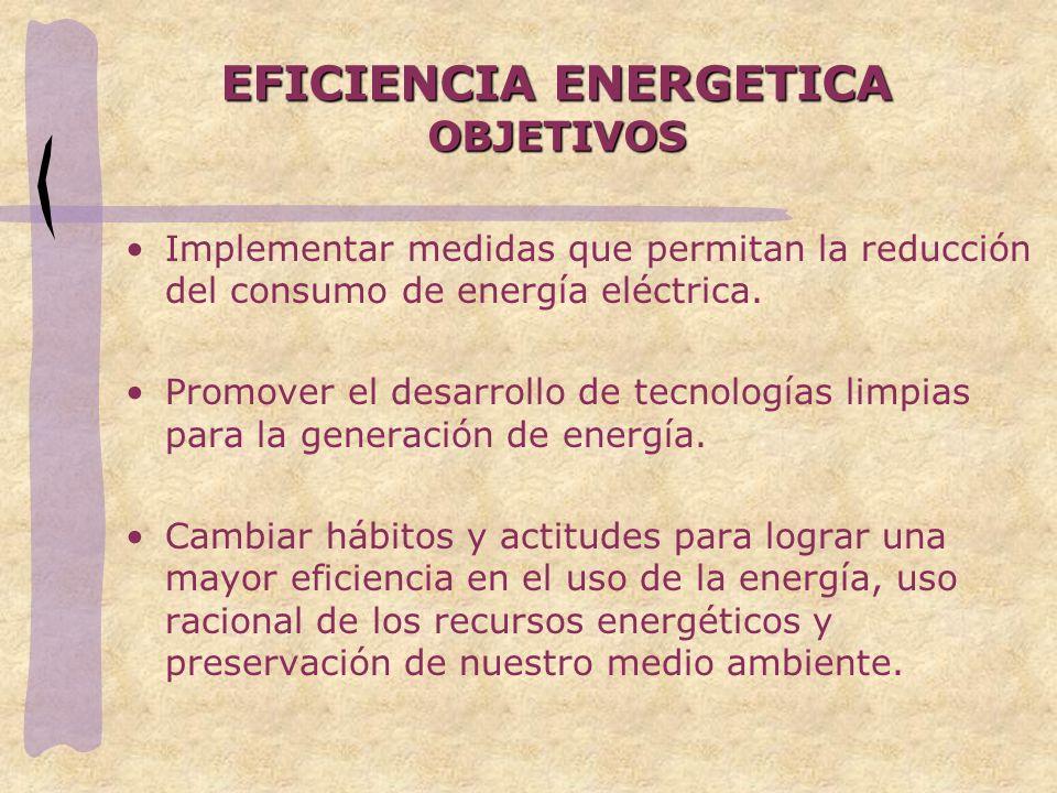 EFICIENCIA ENERGETICA OBJETIVOS