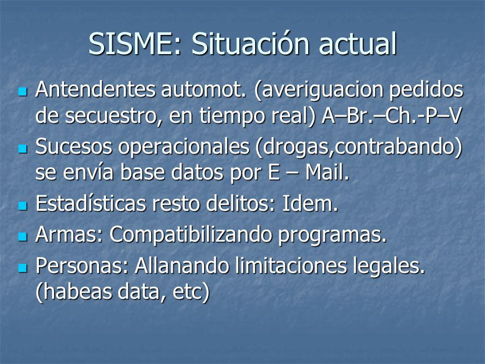 SISME: Situación actual