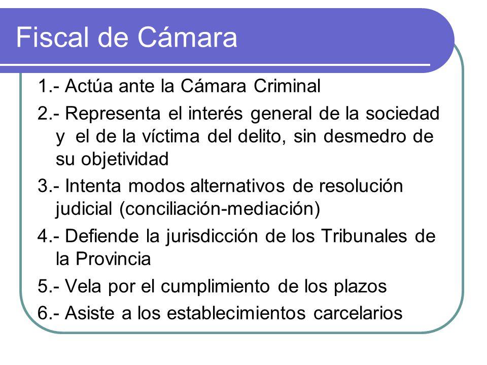 Fiscal de Cámara 1.- Actúa ante la Cámara Criminal
