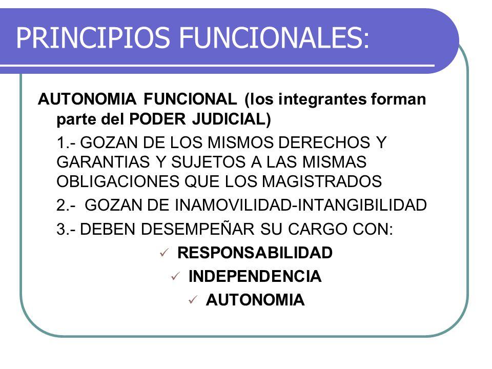PRINCIPIOS FUNCIONALES: