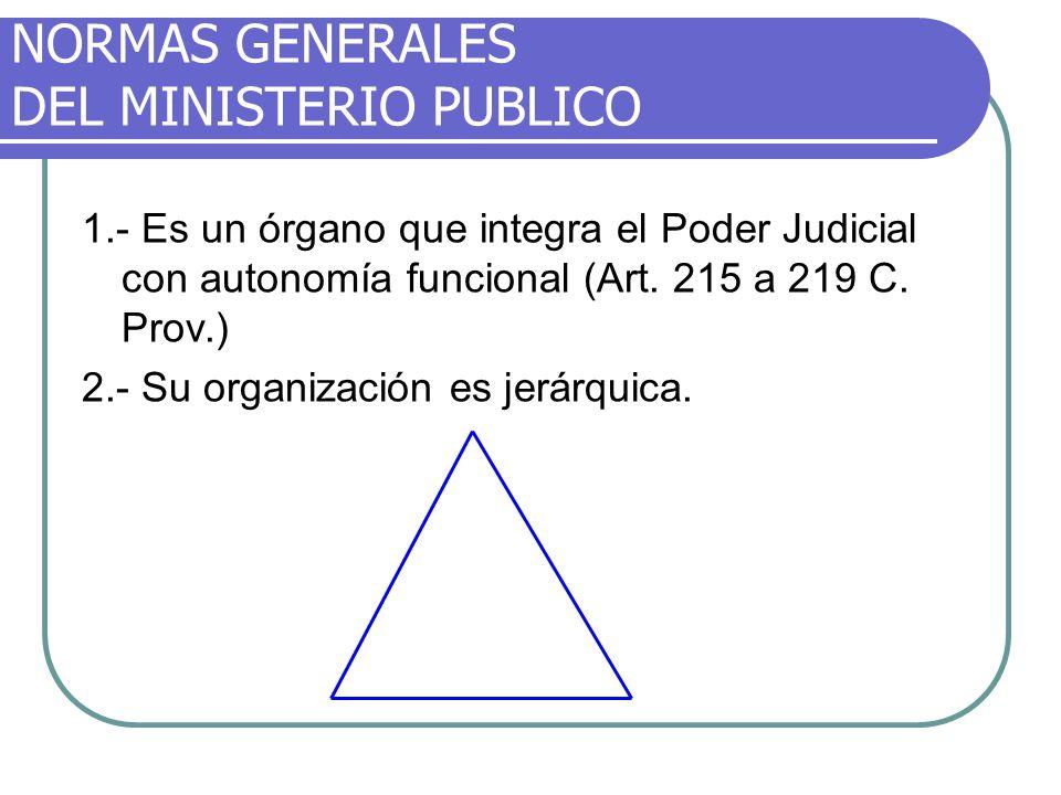 NORMAS GENERALES DEL MINISTERIO PUBLICO