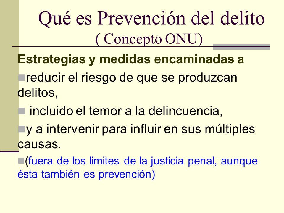 Qué es Prevención del delito ( Concepto ONU)