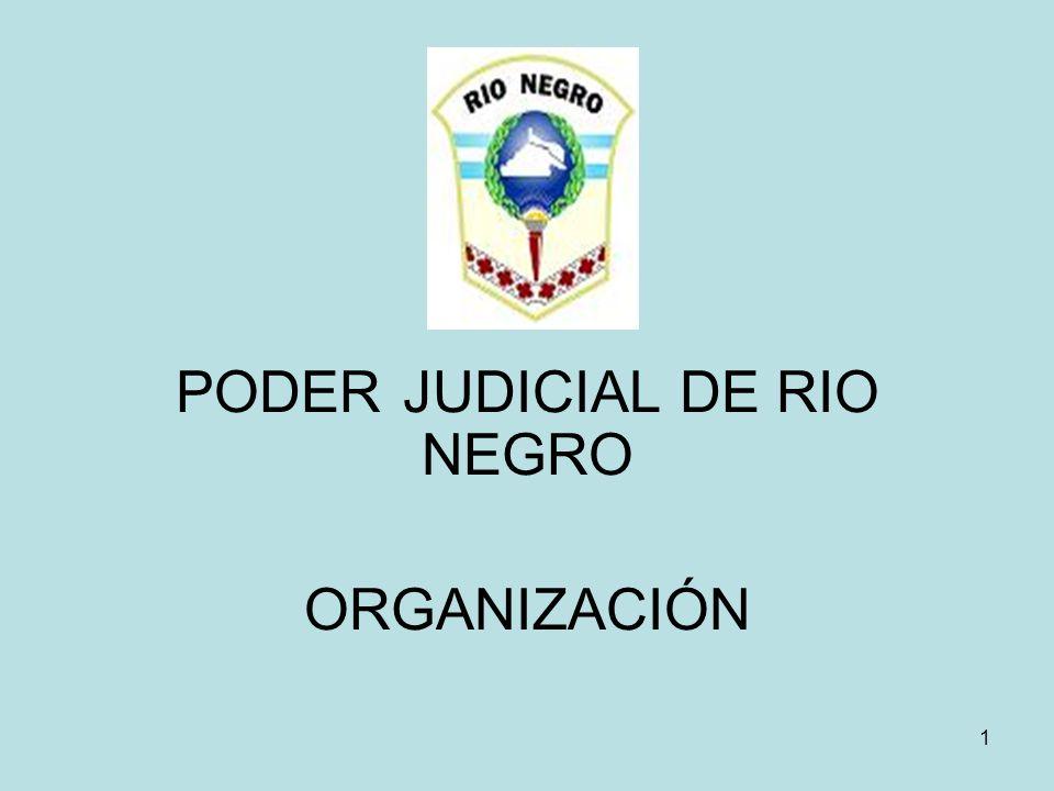 PODER JUDICIAL DE RIO NEGRO ORGANIZACIÓN