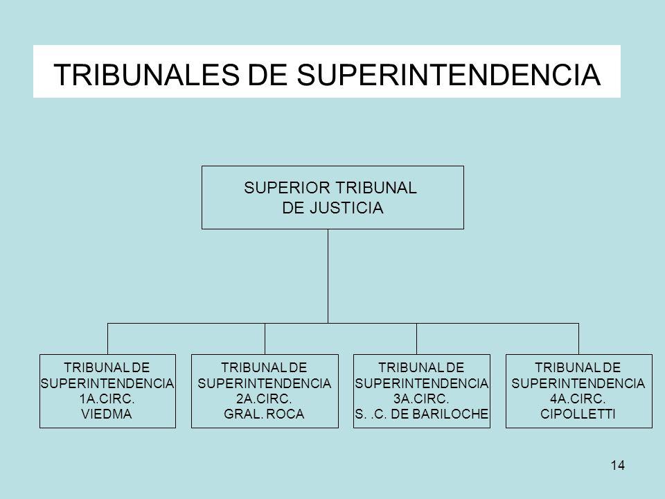 TRIBUNALES DE SUPERINTENDENCIA