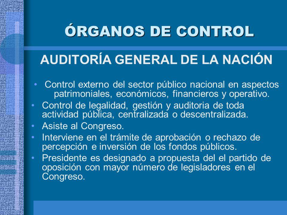 AUDITORÍA GENERAL DE LA NACIÓN