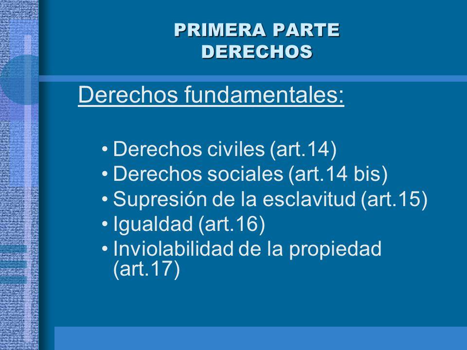 PRIMERA PARTE DERECHOS